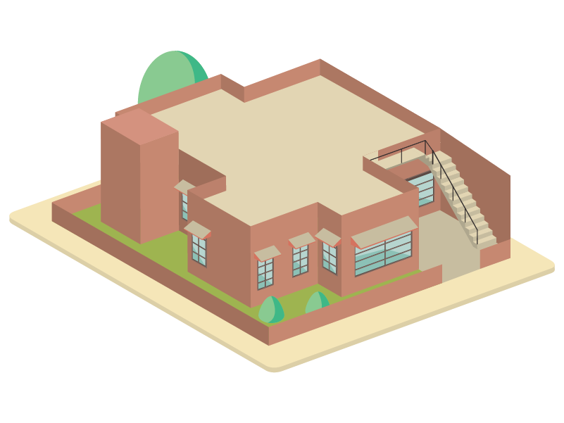 House No. 110 pastel isometric illustration isometric isometric design illustration design