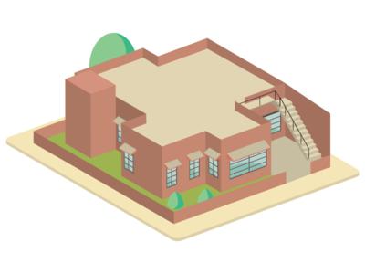 House No. 110 pastel isometric illustration isometric isometric design illustration design