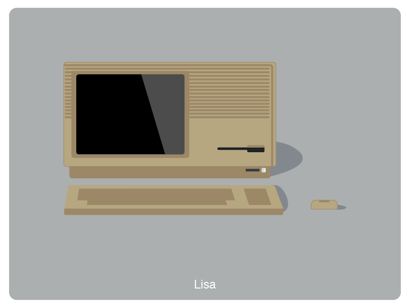 History of Mac #2 web illustration design