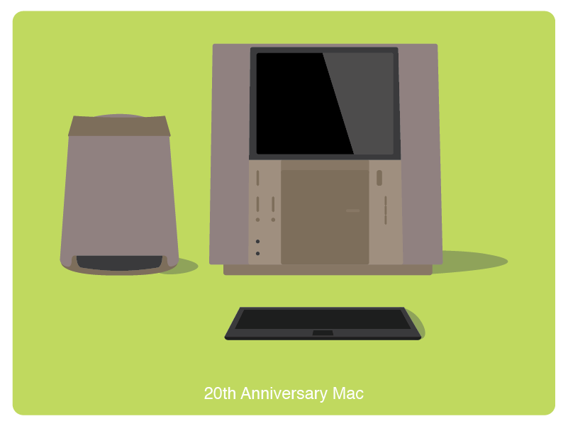 History of Mac #8 web illustration design
