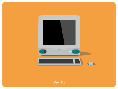 History of Mac #10 web illustration design
