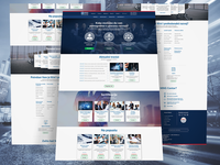 Landing page for MNG training center- website