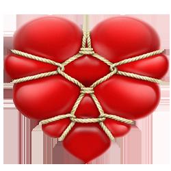 Heart rope ties 250