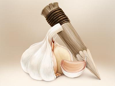 Garlic Spile garlic weapon vampire ghoul halloween