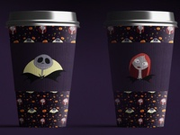 "[Patterns] Coffee Cup ""The Nightmare Before Christmas"""