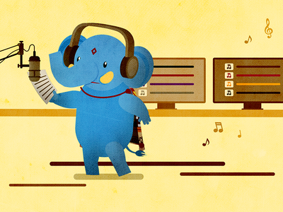 Elephant voice over illustrator after effects illustration motion elephant