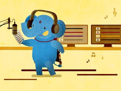 Elephant voice over illustrator after effects illustration motion elephant