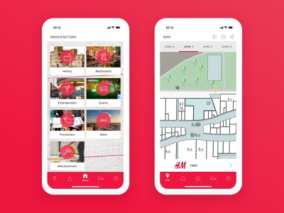 Manufaktura — Shopping Centre App ux mobile ui mobile app mobile shopping