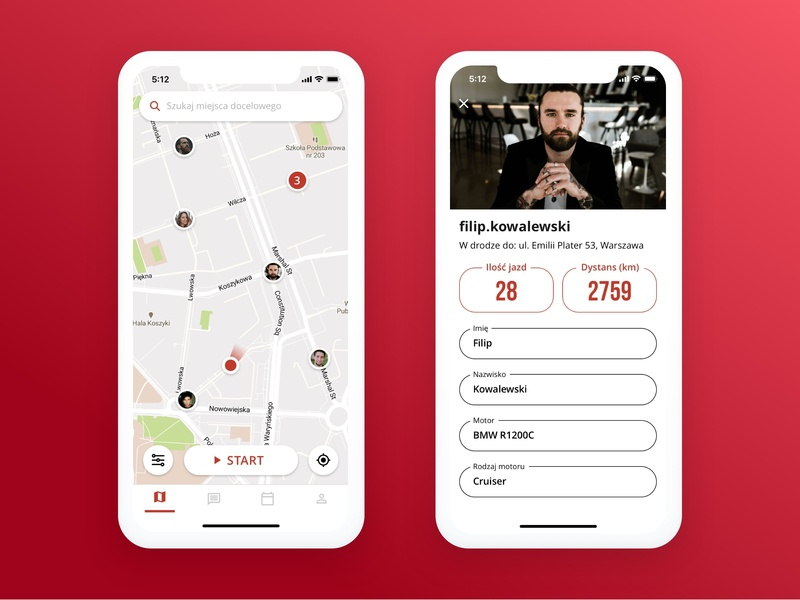 App for motorcycle riders
