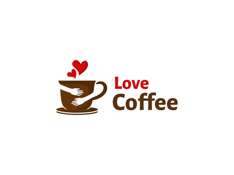 Love Coffee flat simple kiss romantic heart love hug coffee