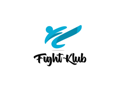 Fight Klub modern abstract flat simple martial arts martial defence hobby club fight