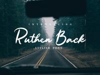 Ruten Back - Stylish Font