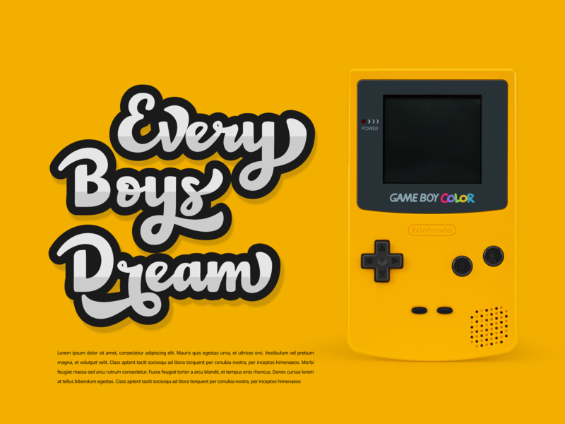 Nineties Games console boys game games gameboy sticker design pop up quote