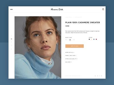 Massimo Dutti Concept Online Store web design concept app web ux ui shopping shop minimal design minimal landing fashion explore design cool concept clean
