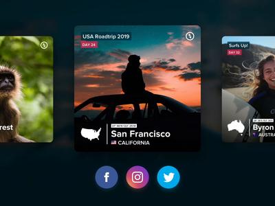 Polarsteps - Share image (Video) app video share buttons sharing photography animation twitter facebook instagram polarsteps travel share