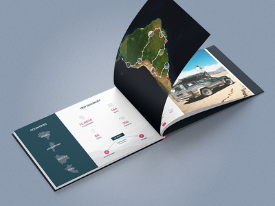 Travel Books - Index map maps statistics travel print polarsteps photo book photo album book