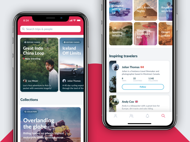 Polarsteps - Explore apple design ux  ui ux follow inspirational iphone x app apple iphone collections inspire trips content travel app inspiration travel search explore