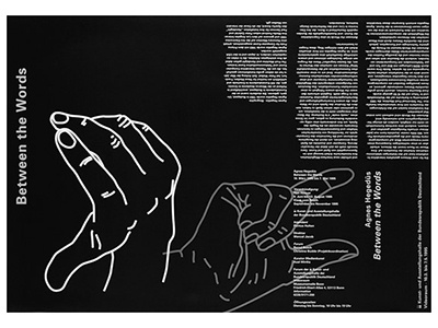 Poster design for video installation