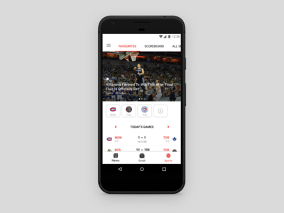 Android Sports Feature