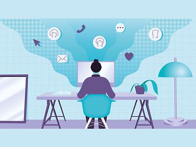 Marketing tools pt. 5 social-media marketing ui icon illustration