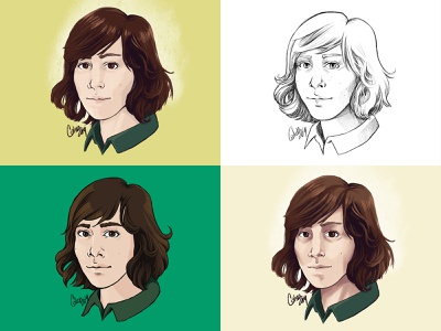 Self Portraits: Style Exploration digital illustration ipad pro procreate self portrait illustration