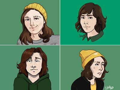 Style Exploration: Self Portraits part 2 illustration digital illustration self-portrait procreate ipad pro