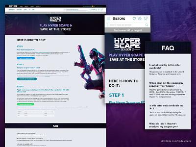 Ubisoft Store x Hyper Scape Landing Page web design landing page design adobe xd