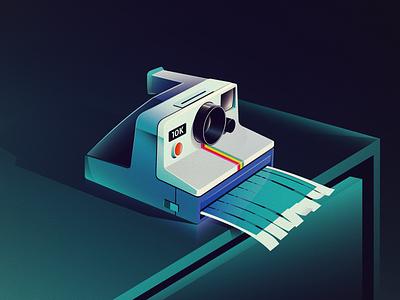 Polaroid gradient vector illustration polaroid