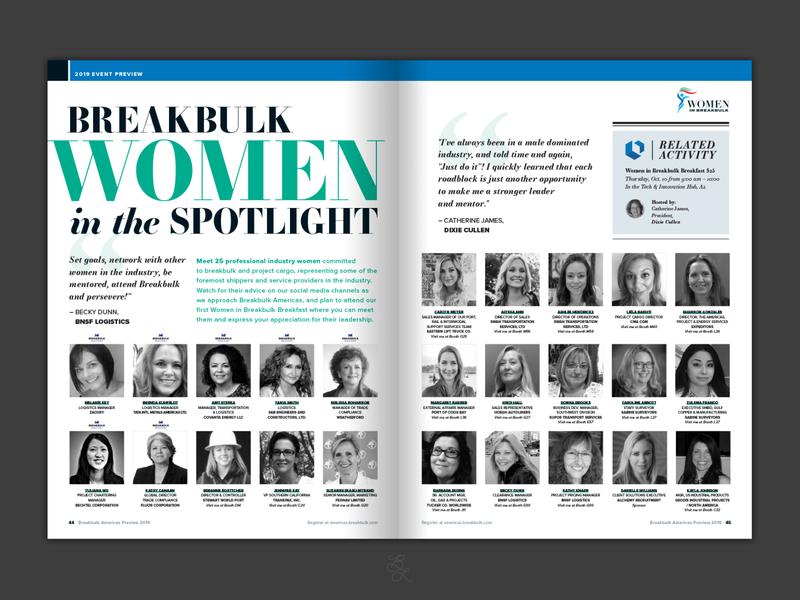 2019 Breakbulk Americas Preview Magazine Spread - Women