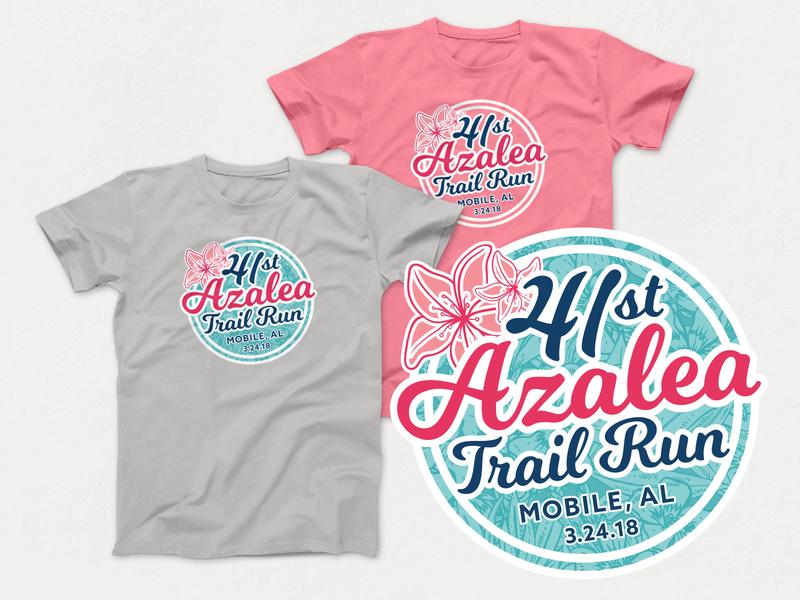 41st Azalea Trail Run T-Shirt vector race shirt 5k shirt logo design t-shirt design t-shirt