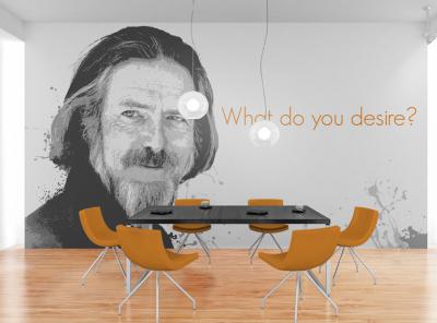 What do you desire? motivational portrait mural