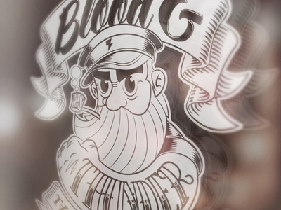 Window Signage for Blood & Thunder Tattoo Emporium