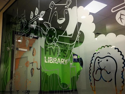 Glass Wall Graphics mural
