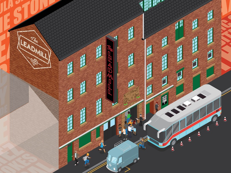 The Leadmill the leadmill sheffield vector illustration isometric