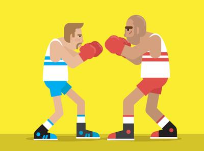 Boxers adobe ilustrator flat illustration flatdesign illustration character design character adobe illustrator animation after effects vector