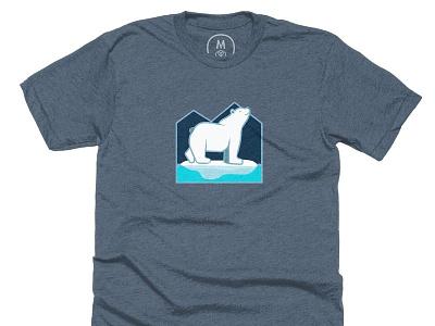Proud Polar bear Shirt design vector illustration