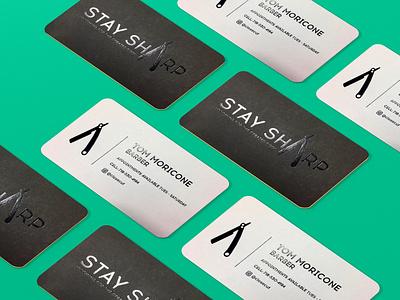 Stay Sharp Branding design illustration typography logo branding