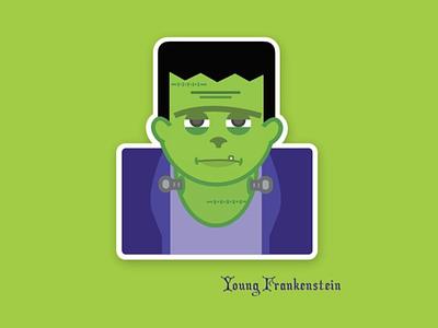 Young Frankenstein vector design illustration