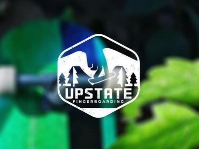 Upstate Fingerboarding Logo design vector logo branding