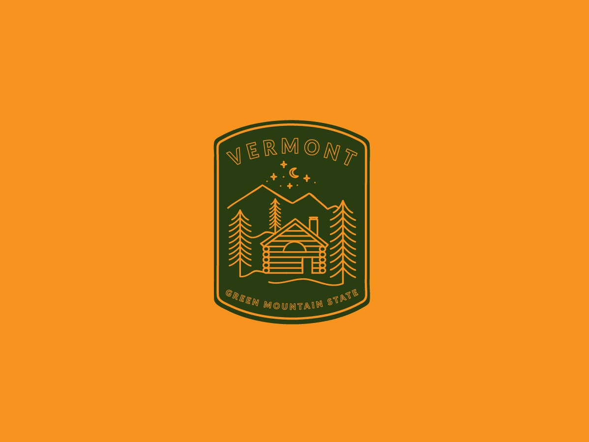 For My Green Mountain Friends graphicdesign logo patch vermont