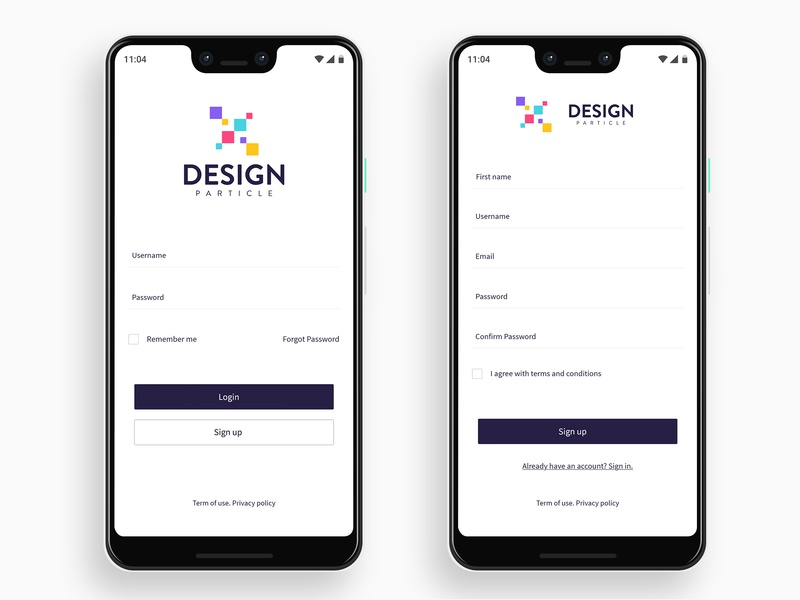Login & Sign up page UI by Ariful I  Sunny on Dribbble