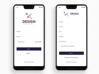 Login & Sign up page UI