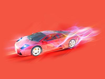 Sports car gift animation design motion graphics animation illustrations design