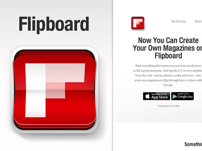 Flipboard Concept Icon apple icons illustration magazine flipboard icon ios app apps photoshop flip design graphic mobile website