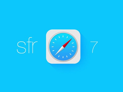 Call it Sfr for iOS7 safari ios7 apple redesign photoshop icon jony new ios flat 7 iphone wwdc design app