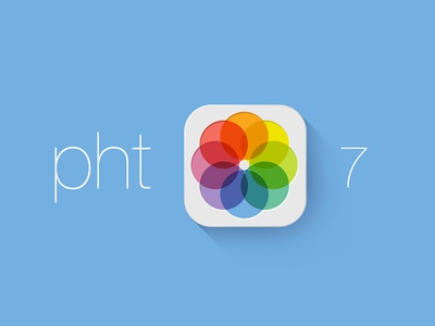 Call it Pht for iOS7 photoshop 7 apple ios icon ios7 jony new redesign safari photos flat ui iphone wwdc design psd