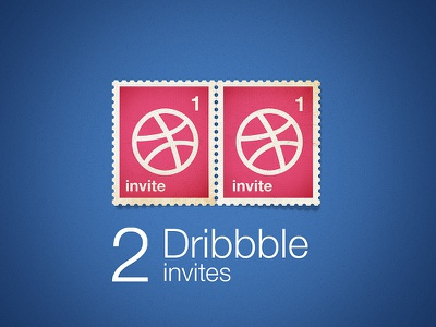 2 Dribbble Invites Giveaway prospect invite dribbble giveaway 2 invitation stamp vintage x2