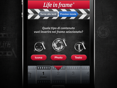 LifeinFrame App movie stop motion mobile speed apple ui app blackboard