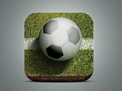Icon App Footy Battle ui app iphone photoshop apple ball battle design football footy icon icons illustration ios soccer mobile graphic
