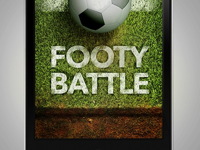 App Welcome Footy Battle texture grass ground appstore app photoshop apple ball battle design football footy graphic icon ios iphone mobile soccer ui illustration gui